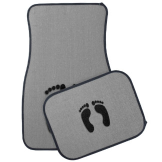 Foot Prints Funny Auto Mat