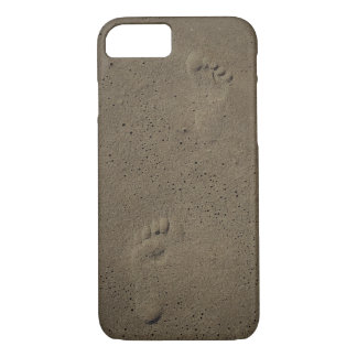 Foot Prints In The Sand at Virginia Beach iPhone 7 Case