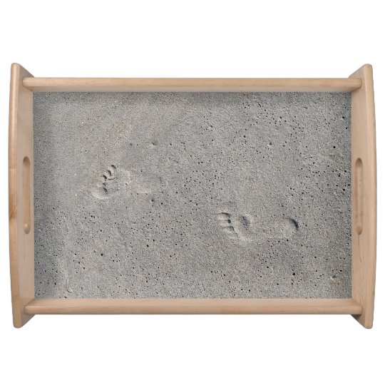 Foot Prints In The Sand at Virginia Beach Service Trays