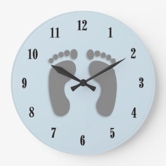 Foot Prints Large Clock