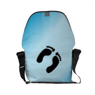 Foot Prints Messenger Bags