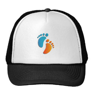 foot prints trucker hat
