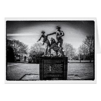 Foot Soldiers in Kelly Ingram Park B&W Card
