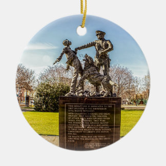 Foot Soldiers in Kelly Ingram Park Round Ceramic Ornament