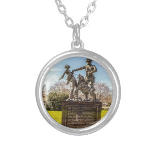 Foot Soldiers in Kelly Ingram Park Silver Plated Necklace