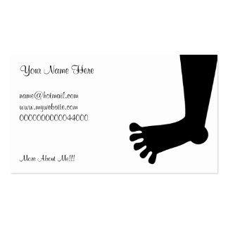 Foot Your Name Here Business Cards