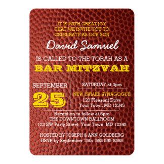 Footbal Gold Bar Mitzvah Invitation