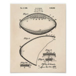 Football 1939 Patent Art - Old Peper Poster