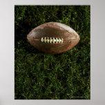 Football américain sur l'herbe, vue d'en haut poster
