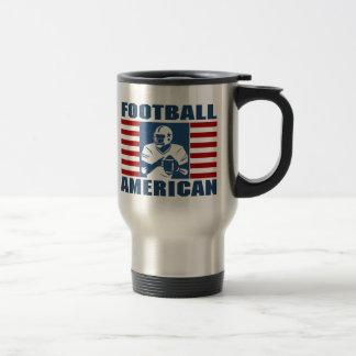 Football American travel mug