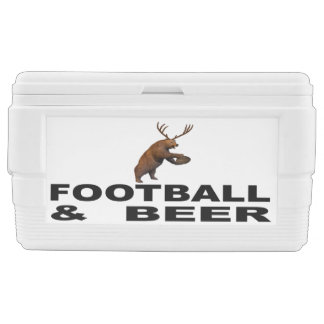 Football And Beer Chest Cooler