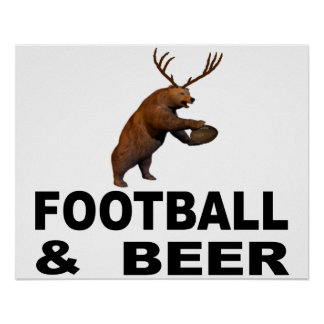 Football And Beer Poster