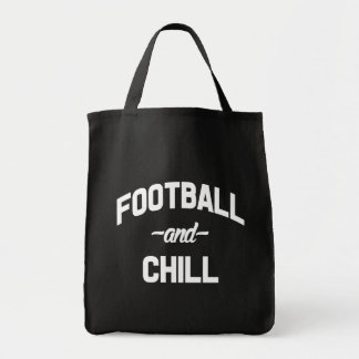 Football and chill funny saying bag