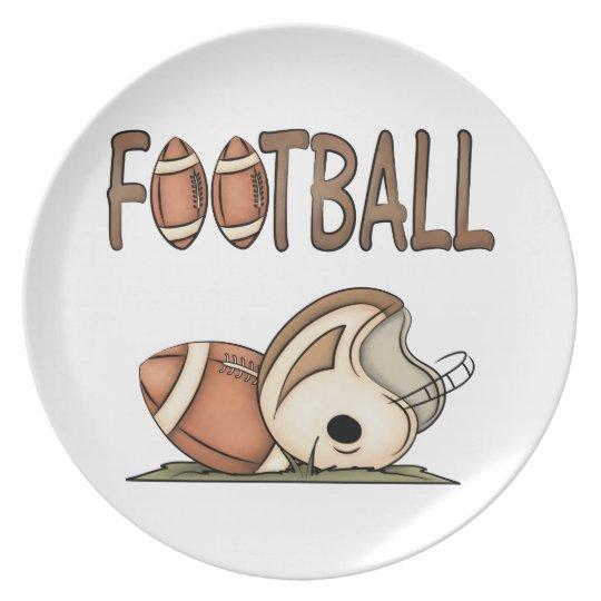 Football and Helmet Kids Plate