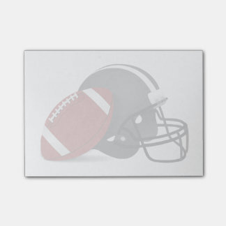Football And Helmet Post-it Notes