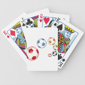 football and soccer bicycle playing cards