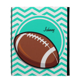 Football Aqua Green Chevron iPad Case