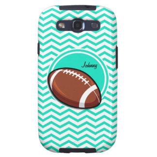 Football Aqua Green Chevron Samsung Galaxy S3 Case