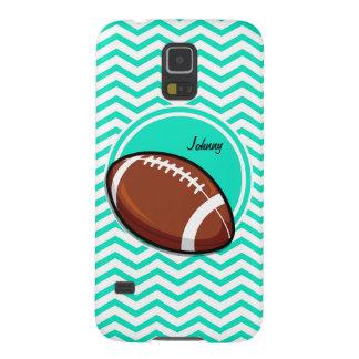 Football Aqua Green Chevron Cases For Galaxy S5