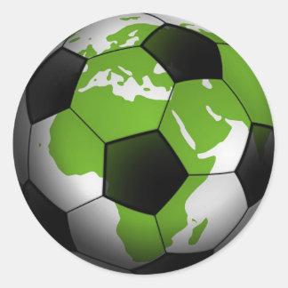 Football around the World Classic Round Sticker