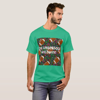 Football Art Green T-Shirt