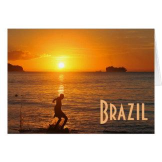 Football at sunset card