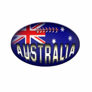 Football Australian Flag Ornament Photo Sculpture Ornament