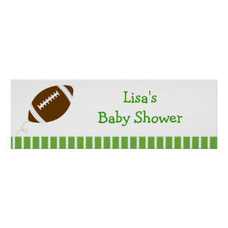 Football Baby Boy Personalized Banner Sign Poster