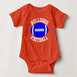 Football Baby Custom Team, Player, Color & Number Baby Bodysuit