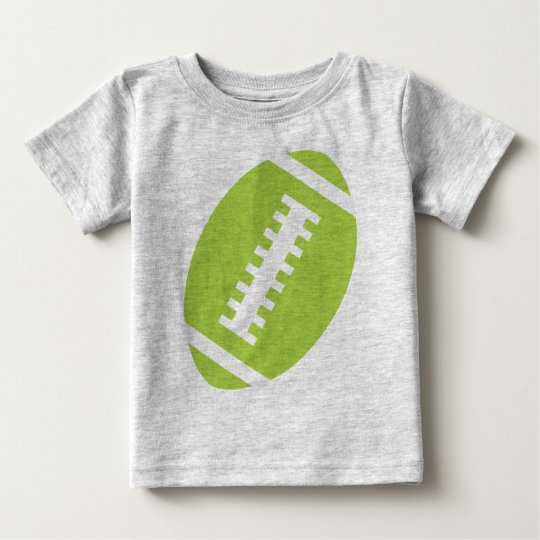 FOOTBALL BABY Grey | Front Lime Green Football Baby T-Shirt
