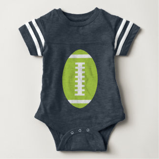 FOOTBALL BABY Navy | Front Lime Green Football T-shirt