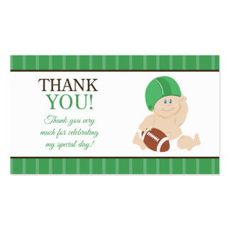 Football Baby Sports Theme Favor Tag Thank You Business Card