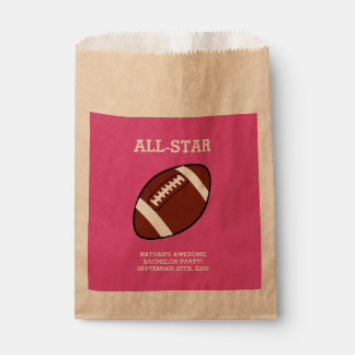 Football Bachelor Party Favor Bags