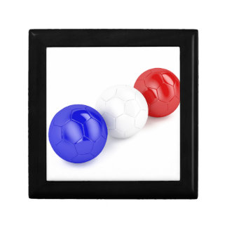 Football balls with flag of France Gift Box