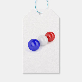 Football balls with flag of France Gift Tags