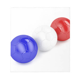 Football balls with flag of France Notepad