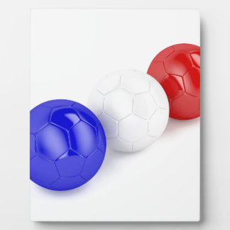 Football balls with flag of France Plaque