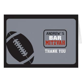 FOOTBALL Bar Mitzvah Invitation Thank You Card