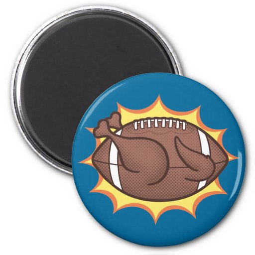 Football Barbecue Refrigerator Magnet