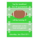 """Football Birthday Party Invitation 5"""" X 7"""" Invitation Card"""