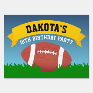 Football Birthday Party Sign