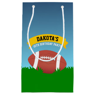 Football Birthday Party Small Gift Bag