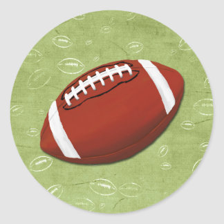 Football Blitz Kids' Birthday Party Classic Round Sticker