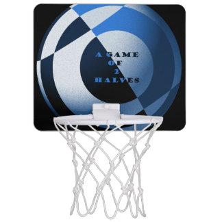 Football Blue Artwork Mini Basketball Hoop