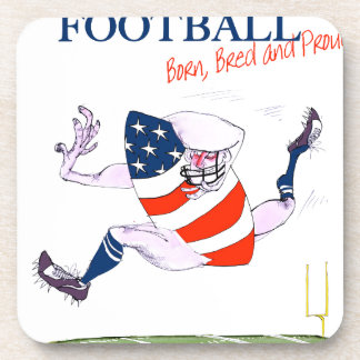 Football born bred proud, tony fernandes beverage coaster