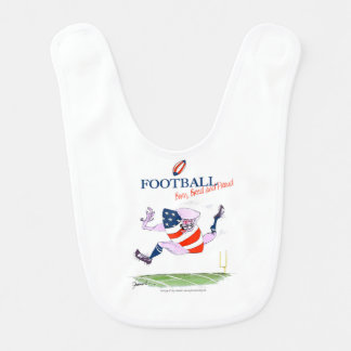 Football born bred proud, tony fernandes bib