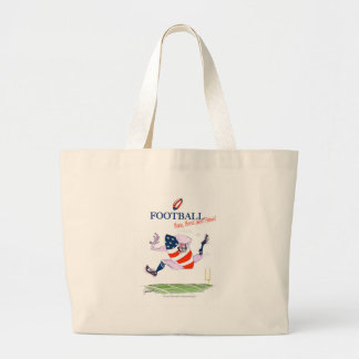 Football born bred proud, tony fernandes large tote bag