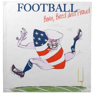 Football born bred proud, tony fernandes napkin