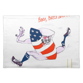Football born bred proud, tony fernandes placemat