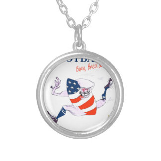 Football born bred proud, tony fernandes silver plated necklace